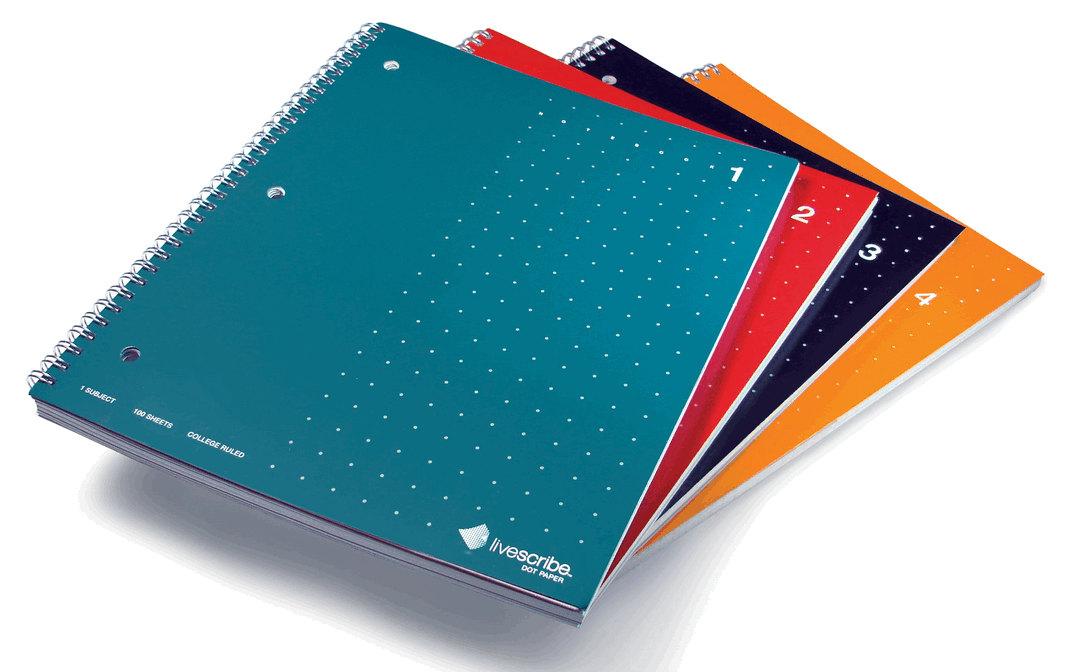 Livescribe A4 Single Subject Ruled Notebooks 4pk. Each single subject notebook has 80 perforated- fi