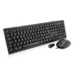 V7 USB Wired Keyboard and Mouse Combo, Italian