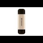 Transcend JetFlash 930C USB flash drive 256 GB USB Type-A / USB Type-C 3.2 Gen 1 (3.1 Gen 1) Gold