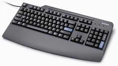 Lenovo 41A5137 USB US English Black keyboard