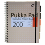 Pukka Project Book Wirebound 200pp 80gsm A4 Metallic Ref 6970-MET [Pack 3]