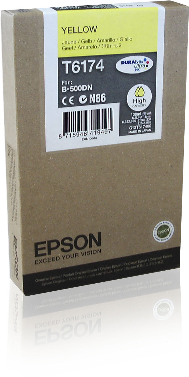 Epson Inkt tank Yellow T6174 DURABrite Ultra Ink (high capacity)