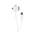 2-Power USB5015A 1m USB A Micro-USB B/Apple 30-p/Lightning White USB cable