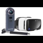 Praktica Z360 4K WiFi Camera + Stitch Selfie Stick and Zeiss VR Headset