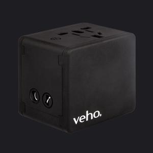 Veho VAA-200-TA1 cargador de dispositivo móvil Exterior Negro