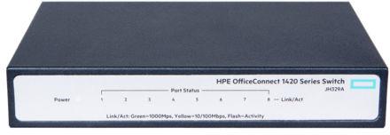 Hewlett Packard Enterprise OfficeConnect 1420 8G Unmanaged L2 Gigabit Ethernet (10/100/1000) Grey 1U