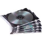 Fellowes 98316 optical disc case Jewel case 1 discs Black, Translucent