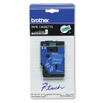 Brother TC8001 Black/Green Tape