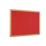 Bi-Office Earth-It Exec Red Felt Ntcbrd Oak Frame 90x60cm DD