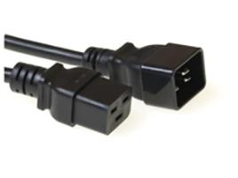 Microconnect 1.0m C19 - C20 power cable Black 1 m C19 coupler C20 coupler