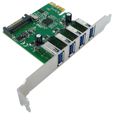 VALUE PCI-EXPRESS ADAPTER, 4X USB 3.0, 5 GBIT/S INTERFACE CARDS/ADAPTER