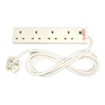 Cables Direct RB-02M04SPD surge protector White 4 AC outlet(s) 2 m