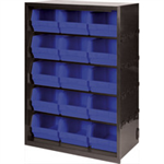 FSMISC CABINET 15 POLYPROP BINS GRY BLK