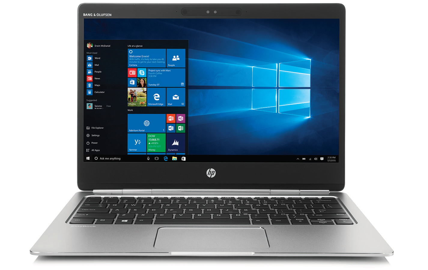 "HP EliteBook Folio G1 1.1GHz m5-6Y54 12.5"" 1920 x 1080pixels Silver"