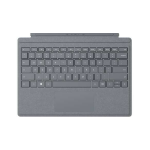 Microsoft Surface Pro Signature Type Cover mobile device keyboard Platinum AZERTY Belgian Microsoft Cover port