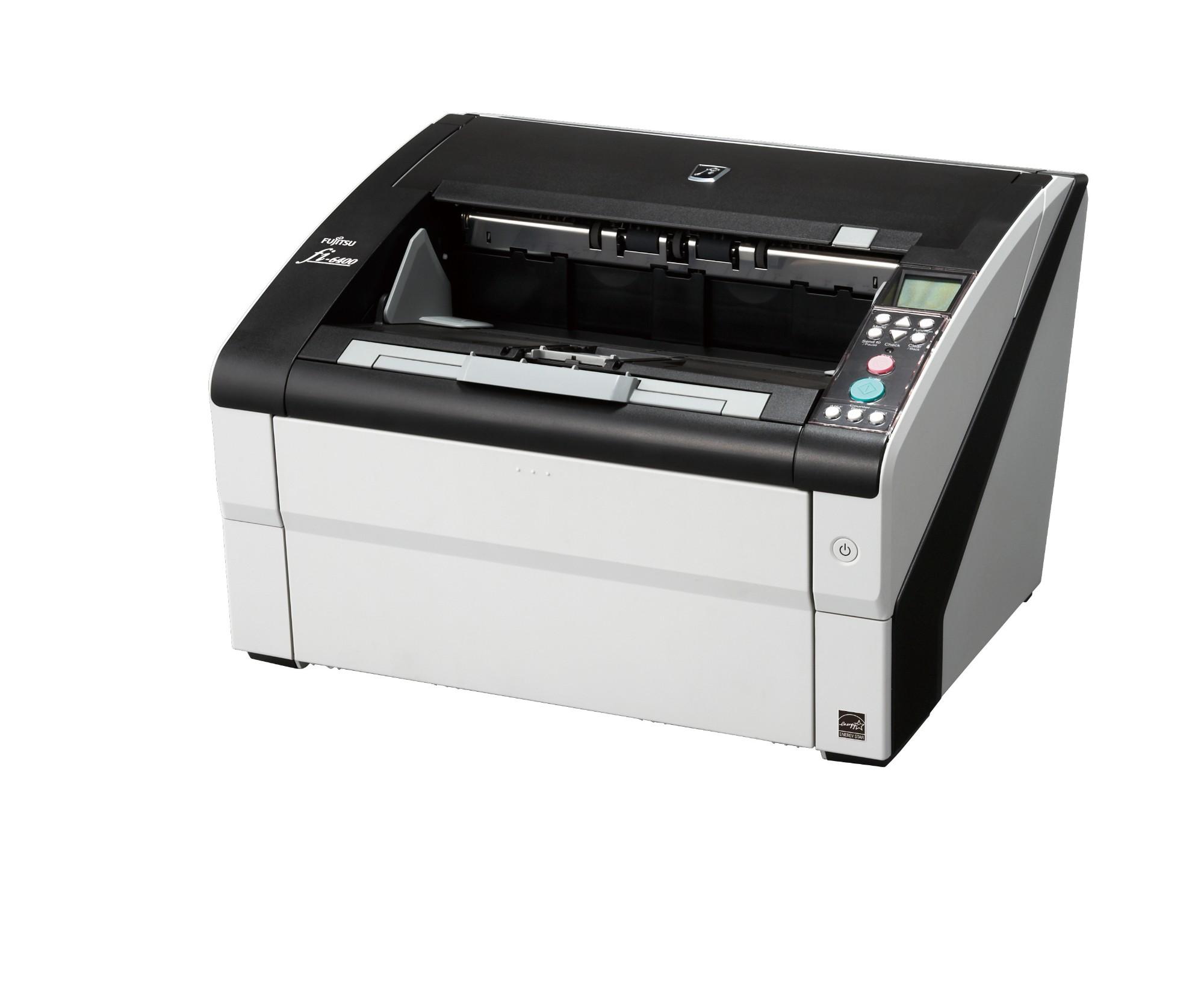 Fujitsu fi-6400 ADF + Manual feed 600 x 600DPI A3 Black,White