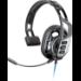 Plantronics RIG 100HS auricular con micrófono Diadema Monoaural Negro, Gris
