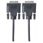 Manhattan Digital 24+1 Video Cable, Dual Link, 5m, DVD-D, Male to Male, Black, Shielded, Polybag