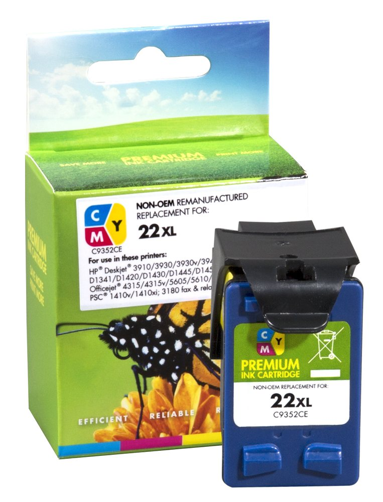 Refilled HP 22XL Colour Ink Cartridge