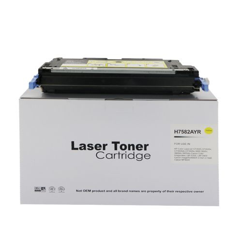 Remanufactured HP Q7582A (503A) / Canon 711Y Yellow Toner Cartridge