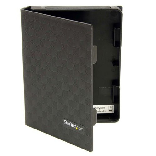 StarTech.com 2.5in Anti-Static Hard Drive Protector Case - Black (3pk)