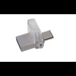 Kingston Technology DataTraveler microDuo 3C 16GB 16GB USB 3.0 (3.1 Gen 1) Type-A/Type-C Silver USB flash drive