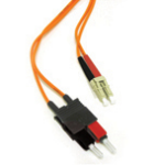 C2G 1m LC/SC LSZH Duplex 62.5/125 Multimode Fibre Patch Cable 1m Orange fiber optic cable
