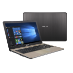 "ASUS VivoBook X540NA-GQ074T Black, Chocolate Notebook 39.6 cm (15.6"") 1366 x 768 pixels 1.10 GHz Intel® Celeron® N3350"