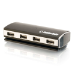 C2G 4-Port USB Aluminium Hub - Black (81645)