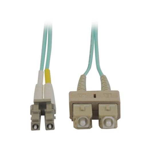 Tripp Lite 10Gb Duplex Multimode 50/125 OM3 LSZH Fiber Patch Cable (LC/SC) - Aqua, 1M