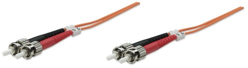 Intellinet Fibre Optic Patch Cable, Duplex, Multimode, ST/ST, 62.5/125 µm, OM1, 5m, LSZH, Orange