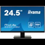 "iiyama ProLite E2591HSU-B1 LED display 62.2 cm (24.5"") 1920 x 1080 pixels Full HD Flat Matt Black"