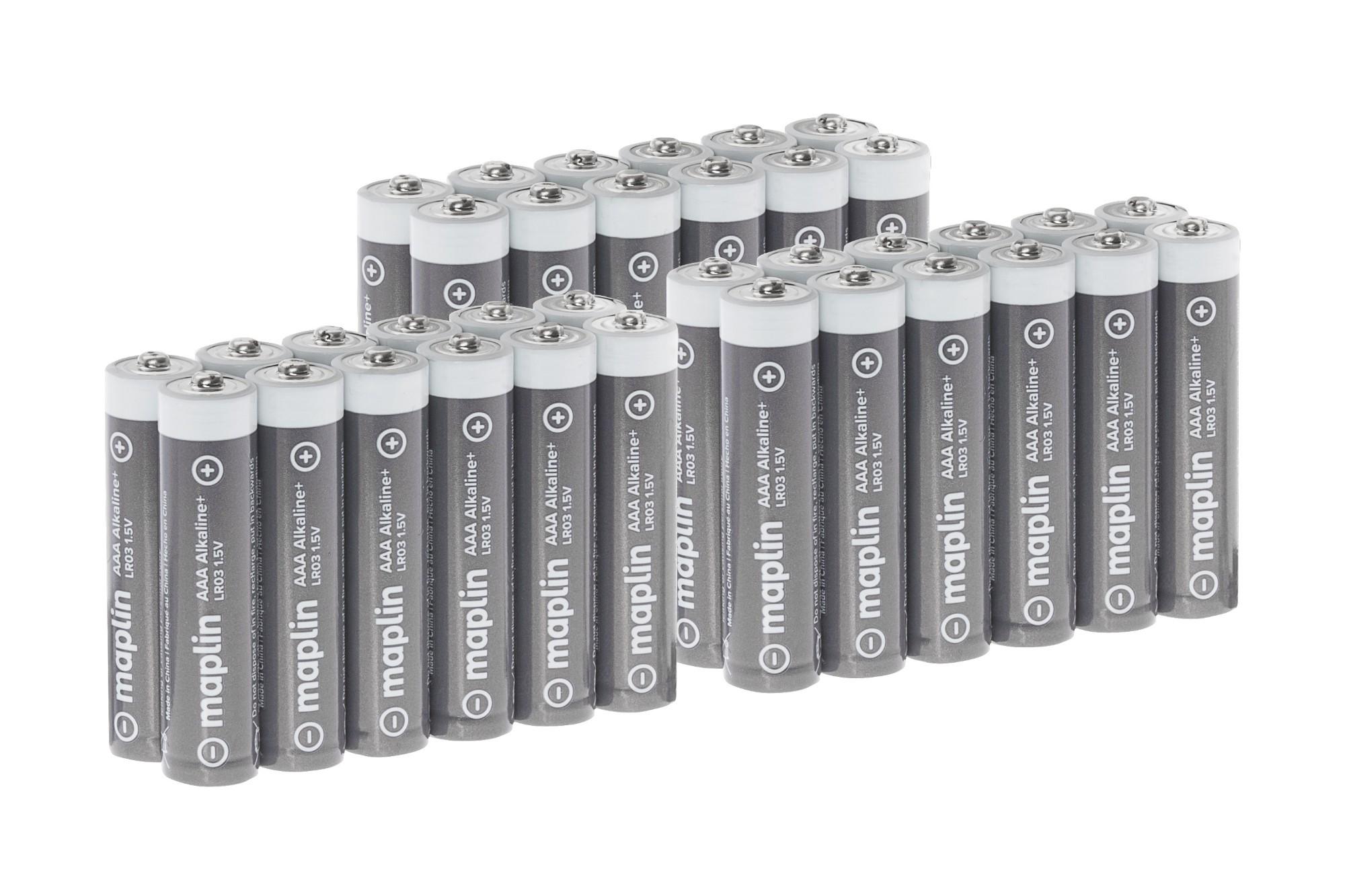 MAPLIN Extra Long Life High Performance Alkaline AAA Batteries - Pack of 36 (3 x 12)