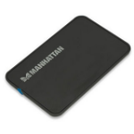 "Manhattan Drive Enclosure, USB 2.0, SATA, 2.5"", Black, Sturdy, Plastic, Windows or Mac, Boxed"