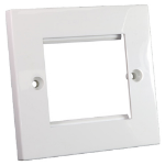 Cablenet Flat Faceplate 50mm x 50mm Single Gang