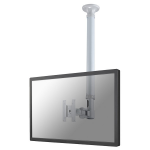 "Newstar TV/Monitor Ceiling Mount for 10""-30"" Screen, Height Adjustable - Silver"