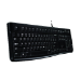 Logitech K120 keyboard USB Russian Black