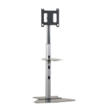 "Chief PF1UB flat panel floorstand 2.18 m (86"") Fixed flat panel floor stand Black"