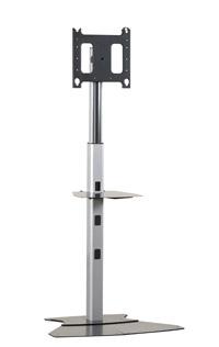 Blk Flat Panel Single Display Floor Stnd (pf1ub)