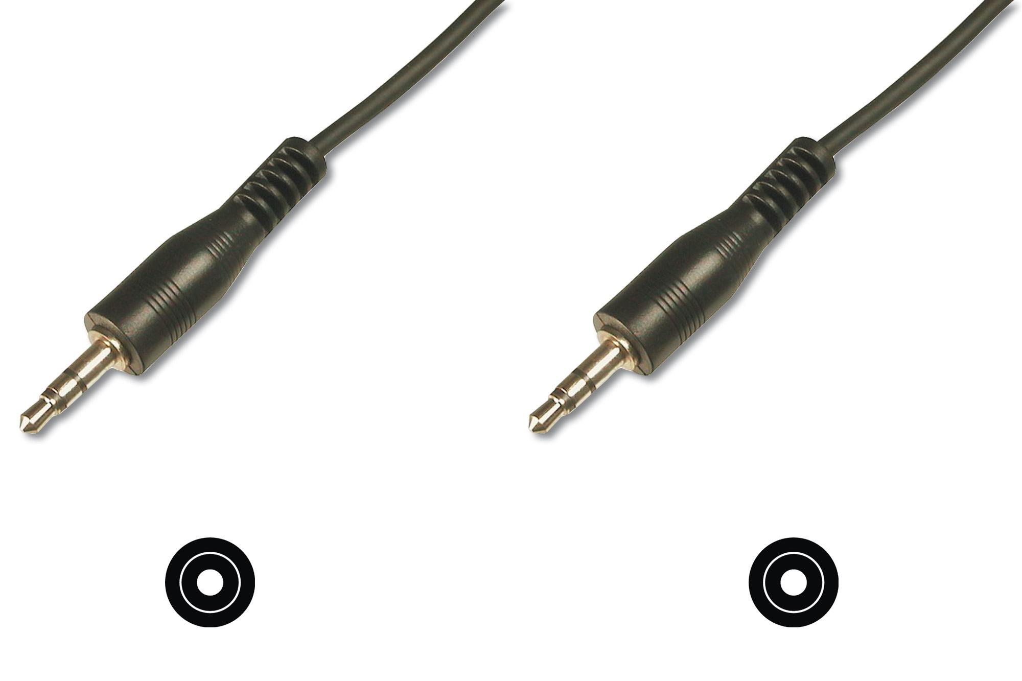 ASSMANN Electronic 3.5mm M/M, 1.5 m 1.5m 3.5mm 3.5mm Zwart audio kabel