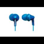 Panasonic RP-HJE125PP Dentro de oído Biauricular Alámbrico Azul auricular para móvil