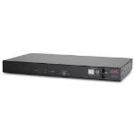 APC RACK ATS, 20A/208V, 16A/230V, C20 IN, (8) C13 (1) C19 OUT Black power distribution unit (PDU)