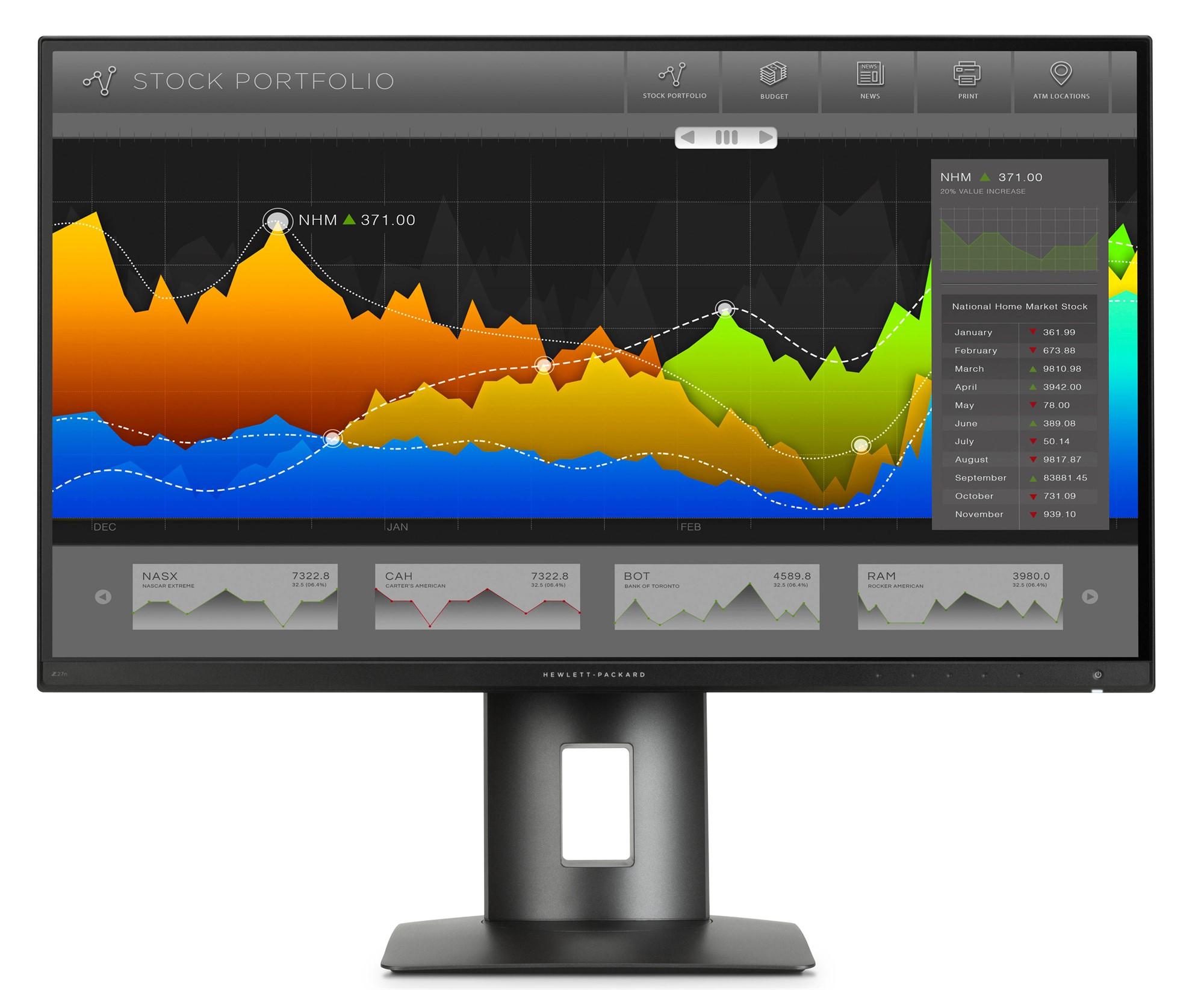 "HP Z27n 27"" 2K Ultra HD IPS Matt Black computer monitor"