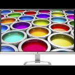 "HP 27ea 27"" Full HD LED Silver, White computer monitor"