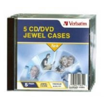 Verbatim CD/DVD Jewel Cases 1discs Transparent