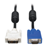 Tripp Lite DVI to VGA Monitor Cable, High Resolution Cable with RGB Coax (DVI-A to HD15 M/M), 6-ft.