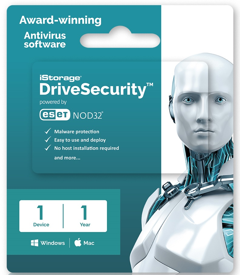 DriveSecurity 1 year Lic 1-99