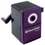 Swordfish 40235 Manual pencil sharpener Black,Purple pencil sharpener