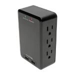 Tripp Lite TLP6SLUSBB surge protector 6 AC outlet(s) 110 - 125 V Black
