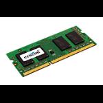 Crucial 4GB kit (2GBx2) memory module DDR3 1600 MHz